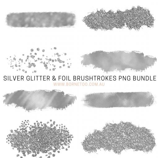 silver-glitter-&-foil-PNG-graphics